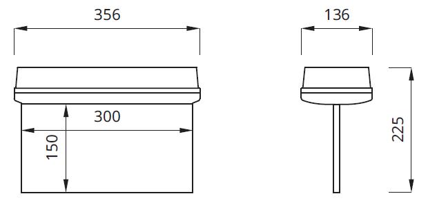 Размер светильника аварийного освещения выход IP42 Helios P LED Awex