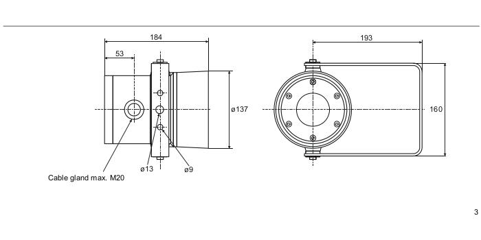 Размеры сигнального устройства Siemens DB3
