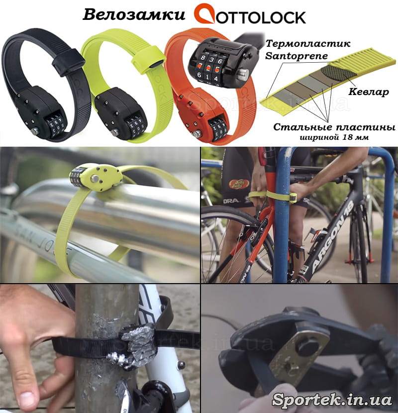 Велосипедные замки типа Ottolock