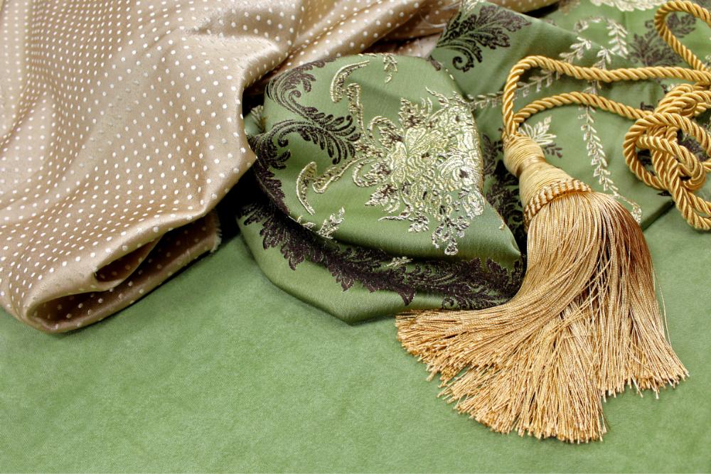 Княгиня зеленые ткани