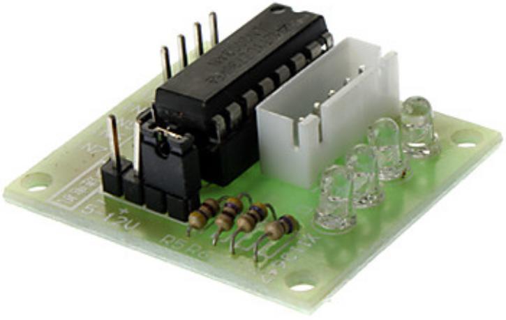 Плата контроллера шагового 4-х фазного двигателя 28BYJ-48 5V DC (5 В) на базе микросхемы ULN2003