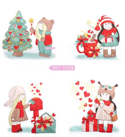 детские ткани с новогодним рисунком