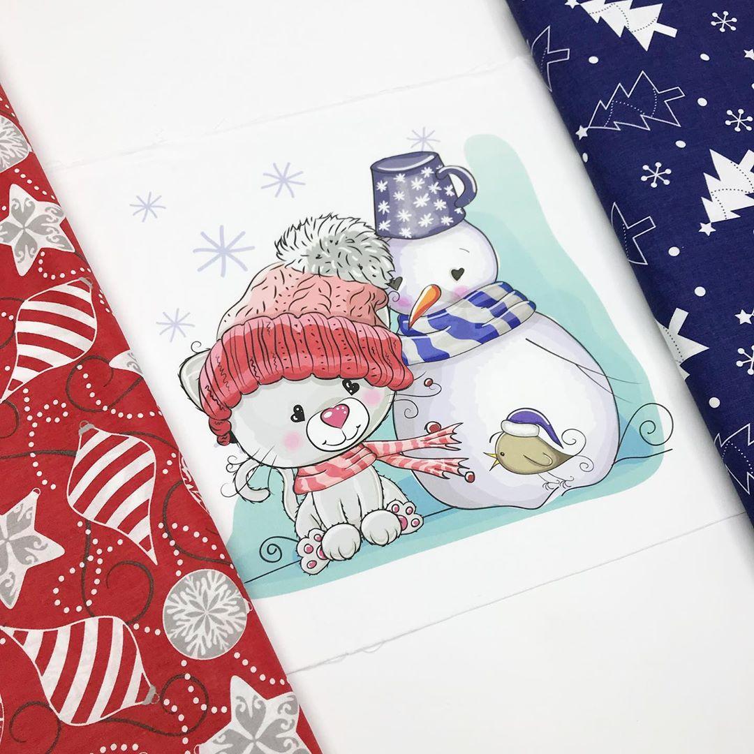 новогодние ткани для детей