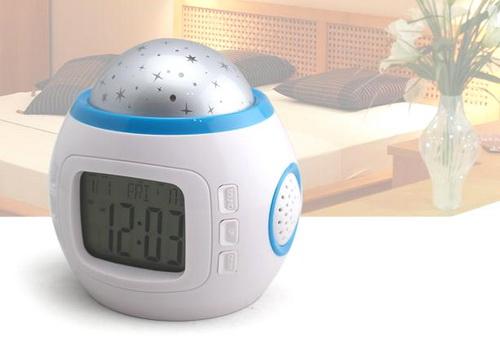 Музыкальные часы светильник с будильником и проектором звездного неба Music And Starry Sky Calendar