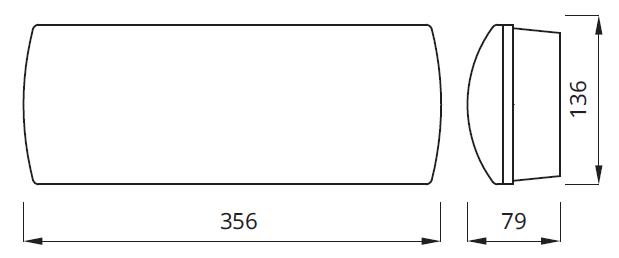 Размер светильника аварийного освещения Helios