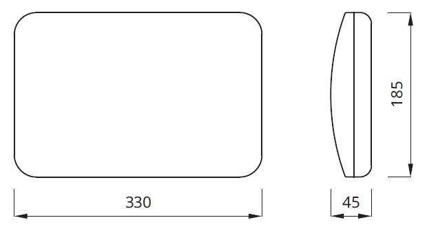 Размер аварийного светильника выход exit IP54 Panorama Awex
