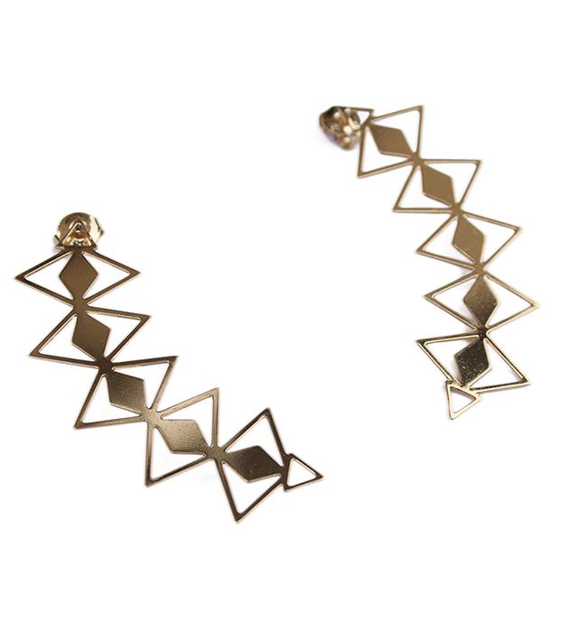 купите изящные серьги-каффы золотого цвета Wilma от Chic Alors-Paris
