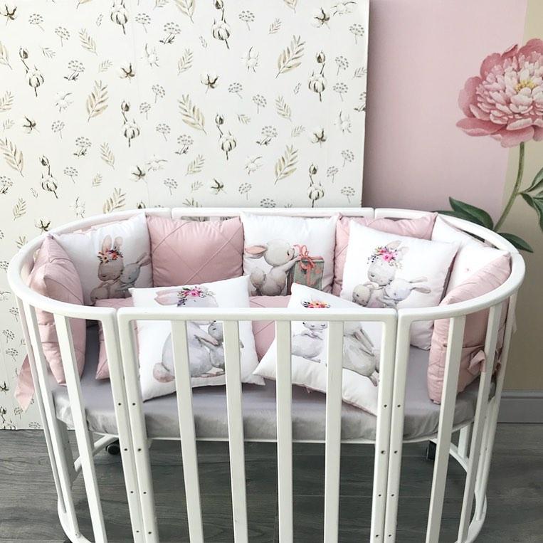 Бортики в детскую кроватку на заказ