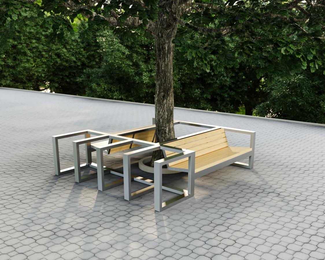 Городская уличная мебель TRIF