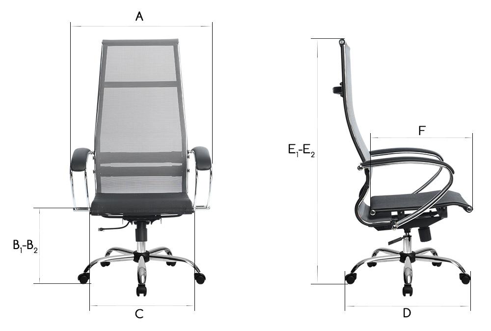 Размеры кресла SU и SK