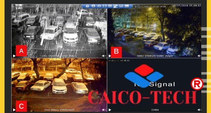 CAICO TECH CCTV видеокамеры STARLIGT ночь в цвете