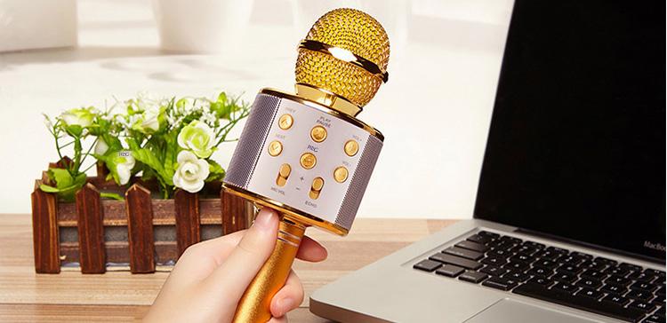 Беспроводной микрофон для караоке с bluetooth динамиками (беспроводной)