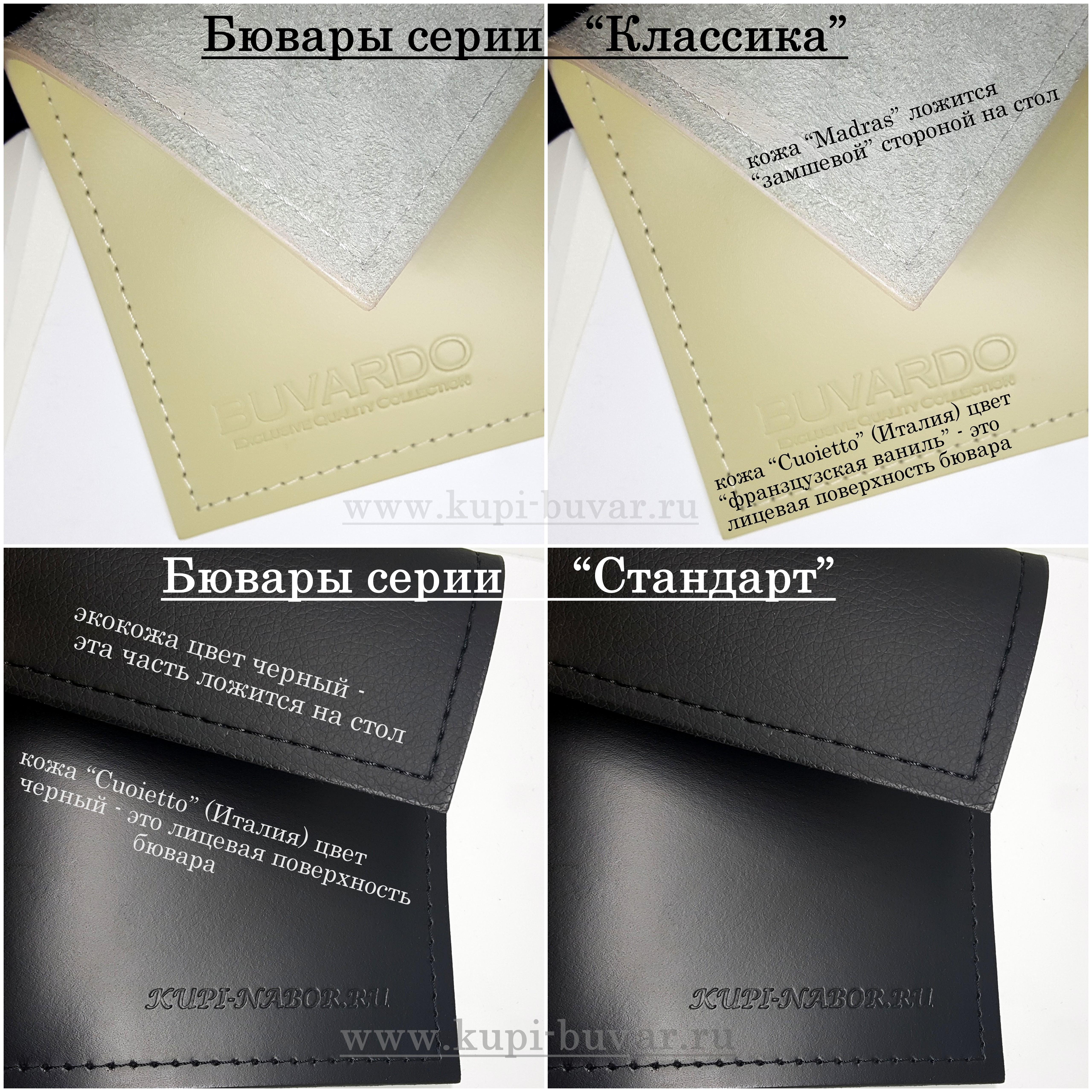 Варианты бюваров Классика и Стандарт.
