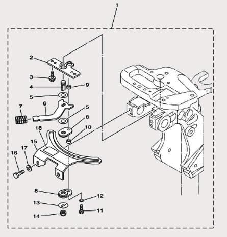 Запчасти румпеля часть 2 для лодочного мотора F9,9 Sea-PRO