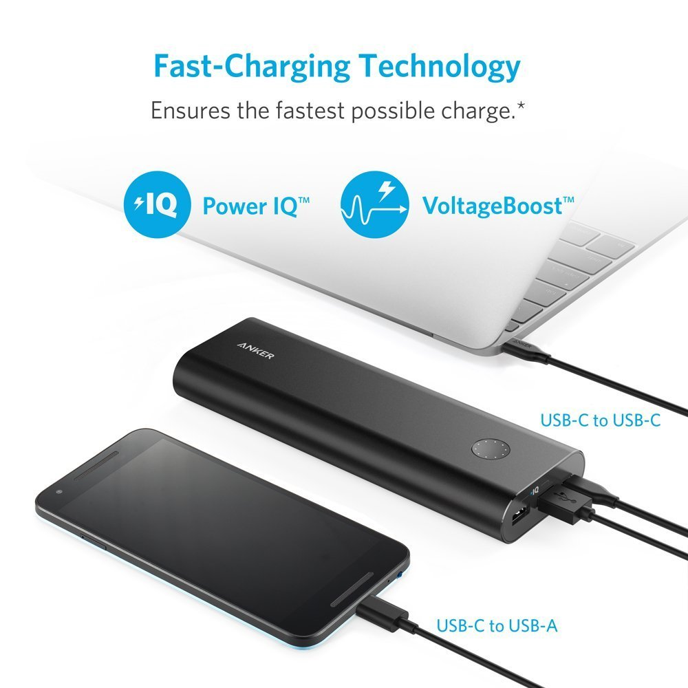 Внешний аккумулятор Anker PowerCore 20100 USB-C/Type-C Portable Charger Power Bank (Black)