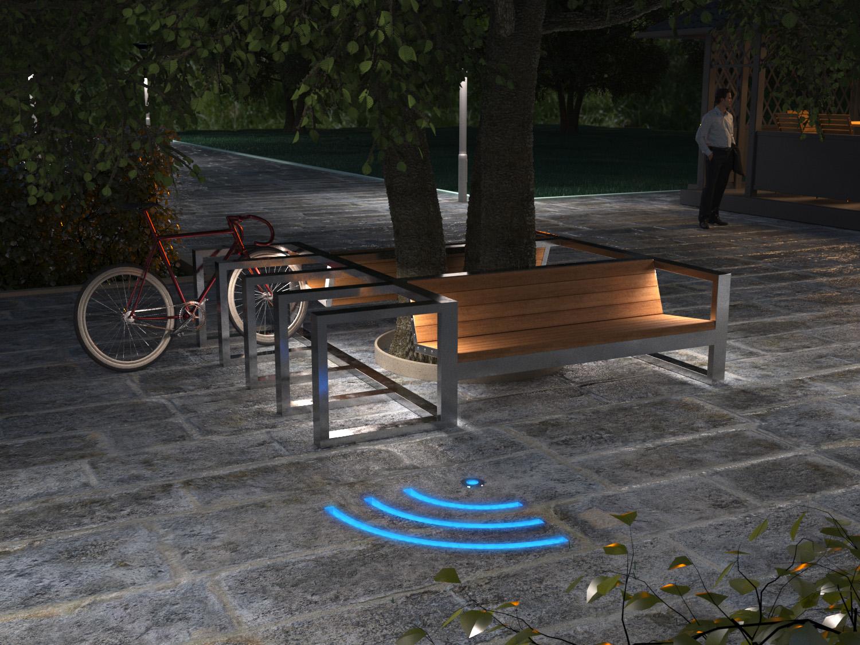 изготовление велопарковок с led подсветкой