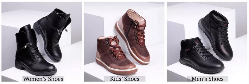 категории обуви