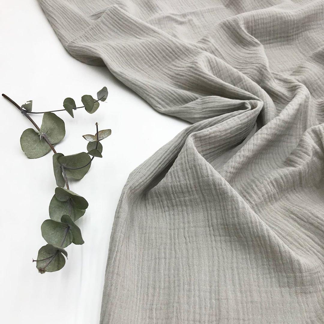 Купить двухслойную муслиновую ткань