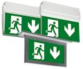 Эвакуационные световые указатели аварийного освещения.