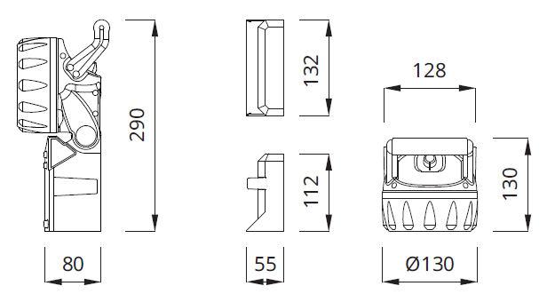 Размеры аккумуляторного аварийного фонаря JOBLED