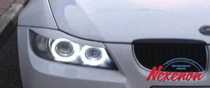 Светодиодные ангельские глазки BMW 3 после 2008гв