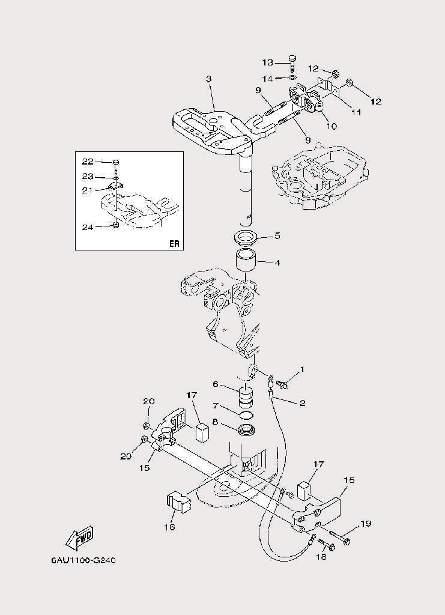 Запчасти системы крепления для лодочного мотора F9,9 Sea-PRO