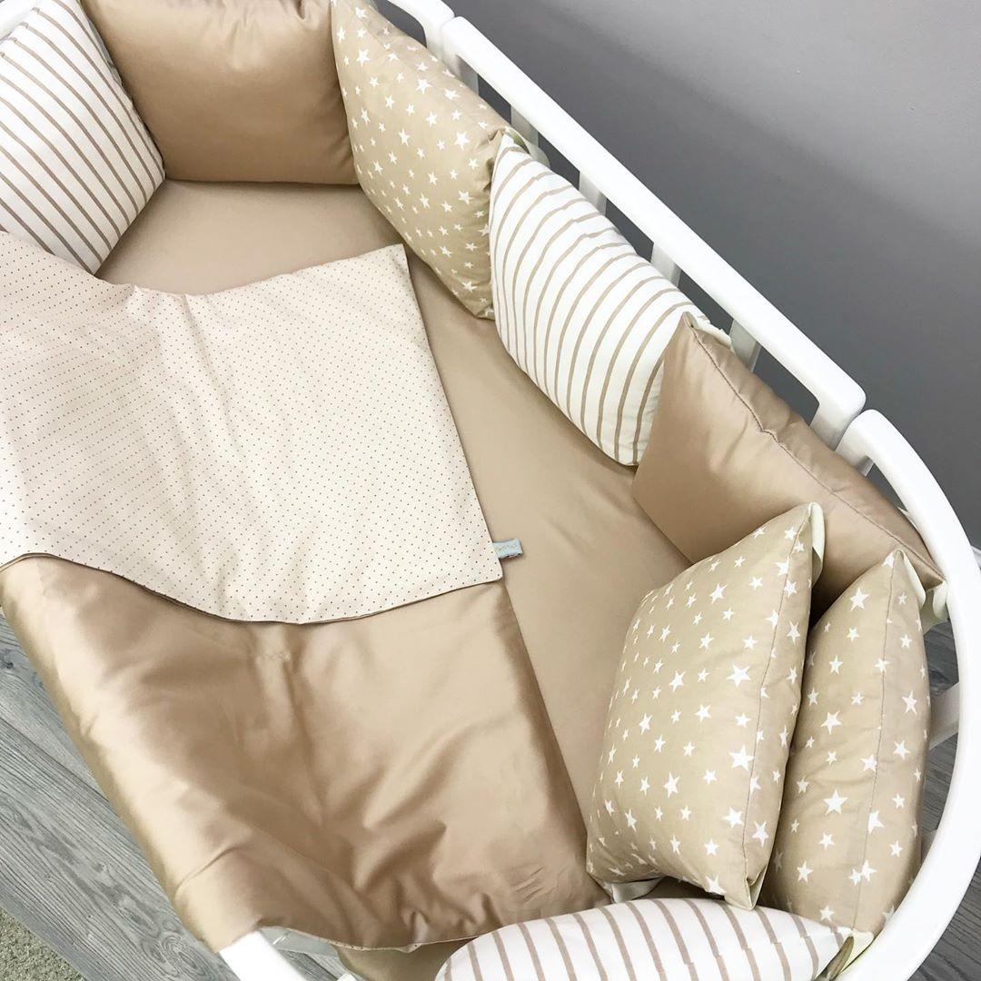 Стильные бортики в детскую кроватку