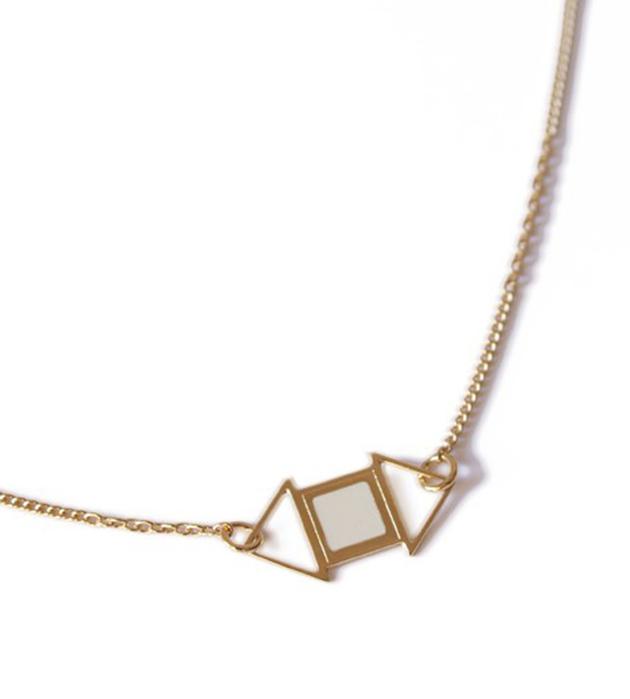 купите геометричное украшение на каждый день от Chic Alors Paris -collier Edwin Ivoire