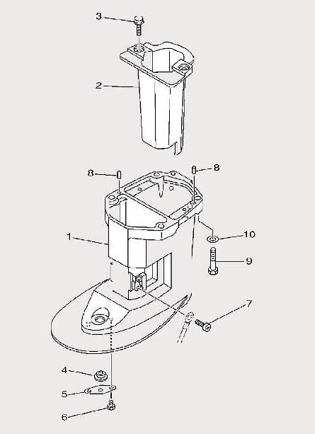 Запчасти дейдвуда для лодочного мотора F9,9 Sea-PRO