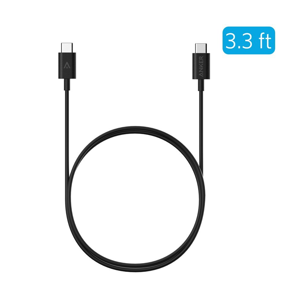 Кабель USB-C to USB-C Cable 3.3ft / 1m (Black)