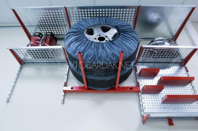 Настенный стеллаж для хранения автомобильных колес IF