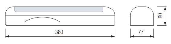 Размеры настенного аккумуляторного светильника HL-303