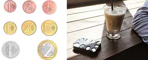 монеты для карманного органайзера (9 ячеек)