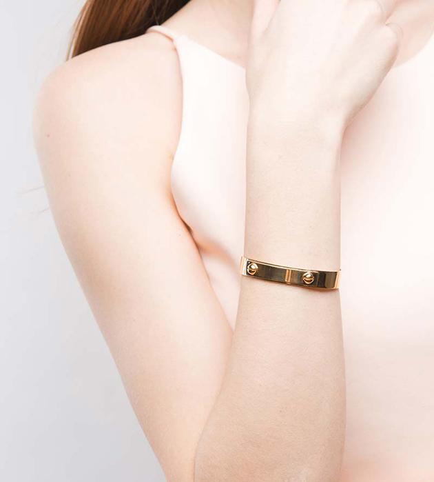 элегантный браслет золотого цветa Leila от Ina Beissner