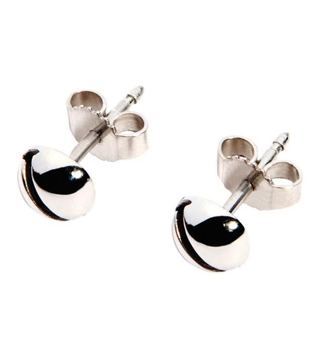 миниатюрные серьги-гвоздики Mini Bell Silver от Ina Beissner