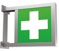 FLAGLIGHT Двухсторонний указатель для аварийного освещения тоннелей – крепление флагом