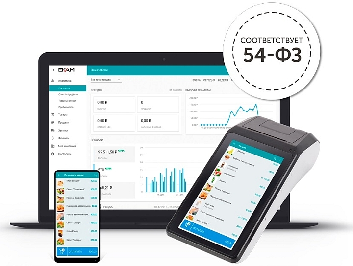 Программа для учета товаров ЕКАМ может работать на мобильных гаджетах