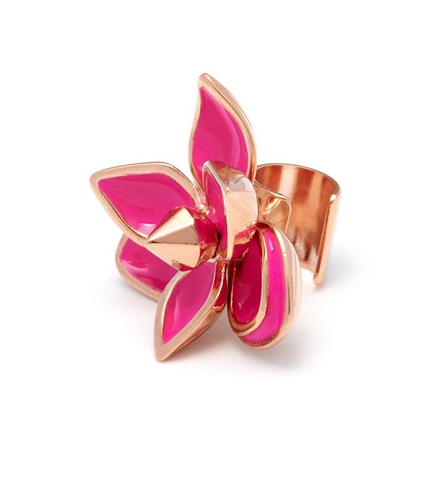 серьга-кафф в форме цветка Pink Flower от Maria Francesca Pepe