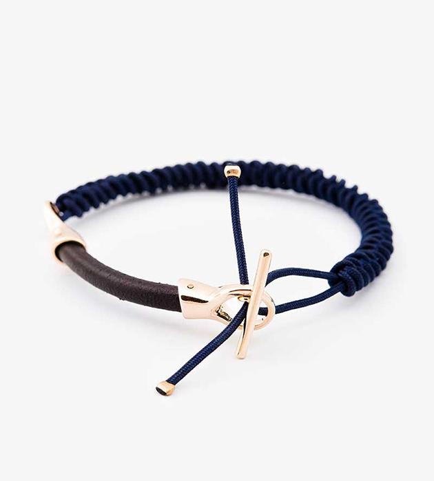 оригинальный браслет c элементами из позолоченной латуни и натуральной кожи oт Helena Rohner - Leather String
