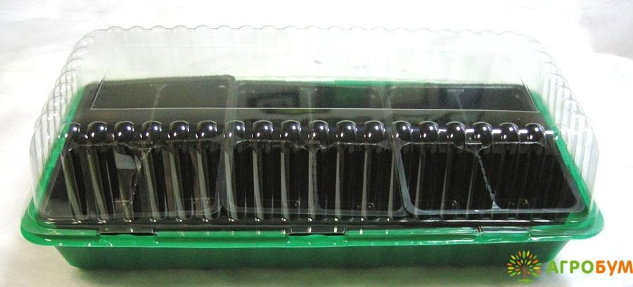 Мини-парник c 3-мя кассетами по 6 ячеек