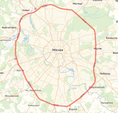 *Логистические границы Москвы