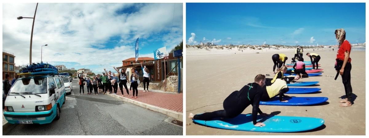 Уроки серфинга в Португалии