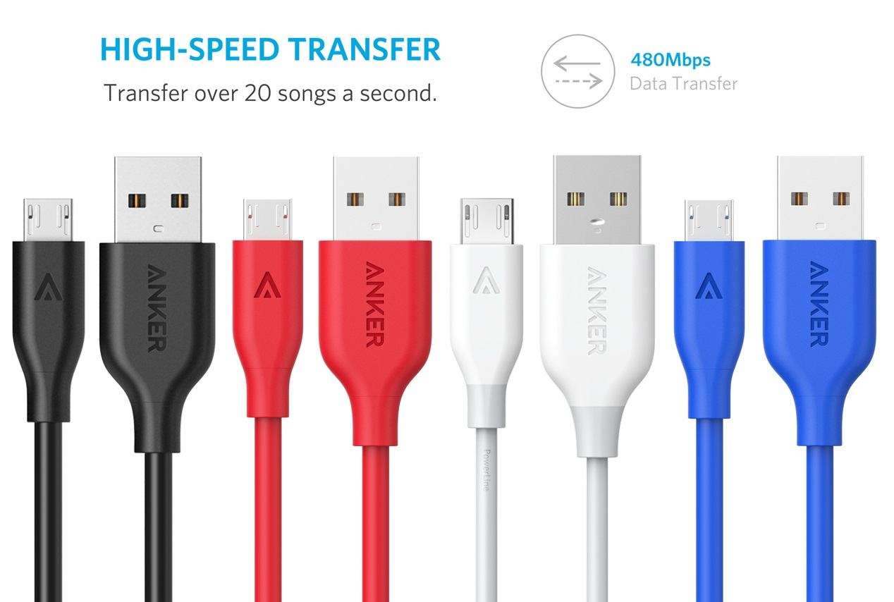 Anker Micro USB to Micro USB 2.0 - Кевларовый кабель для синхронизации и заряда устройств с разъёмом Micro USB.