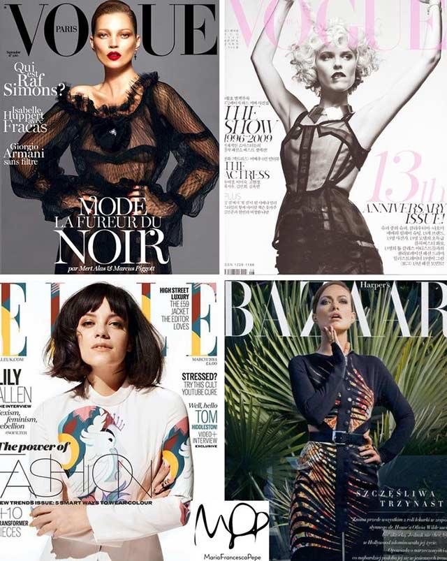 Украшения Maria Francesca Pepe на обложках известных журналов о моде