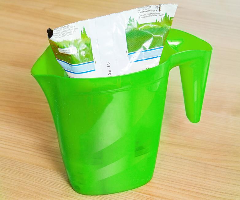 Кувшин-подставка для молочного пакета 1,4л
