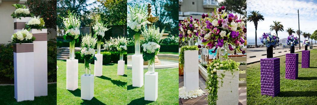 Подиум для цветов из пенопласта