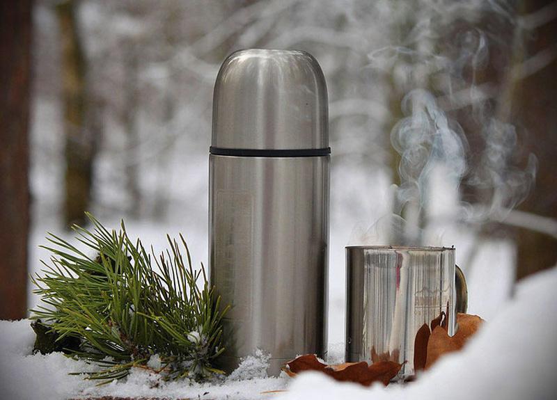 Чай в термосе с облепихой и имбирем