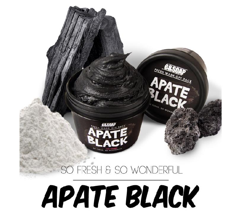 Очищающая маска для лица B&SOAP Fresh Wash Off Pack Apate Black  В состав маски входит древесный уголь, вулканический пепел острова Чеджу, каолин, экстракт морского винограда и трегалоза.  Древесный уголь удаляет излишки кожного сала и омертвевшие клетки с поверхности кожи, выравнивает текстуру и делает кожу мягкой и гладкой.  Экстракт каулерпы (морского винограда) увлажняет и питает, повышая упругость и эластичность кожи.  Вулканический пепел с острова Чеджу известен своими очищающими и лечебными свойствами, он способствует нормализации себорегуляции и насыщает кожу полезными микроэлементами.  Применение:  Нанесите маску плотным слоем на очищенную кожу лица, избегая области вокруг глаз. Оставьте на 5-10 минут до полного высыхания. Тщательно смойте теплой водой Рекомендуется использовать 2-3 раза в неделю.  Состав: Water, Kaolin, Glycerin, Diatomaceous Earth, Charcoal Powder, Bentonite, 1,2 Hexanediol, Caulerpa Lentillifera Extract, Butylene Glycol, Olea Europaea (Olive) Fruit Oil, Xantham Gum, Trrehalose, Hydrolyzed Collagen, Hyaluronic Acid, allantoin, Ethylhexylglycerin, Phenoxyethanol, Fragrance  Меры предосторожности: Только для наружного применения. Избегайте попадания в глаза. В случае попадания в глаза немедленно промойте водой. Не используйте на поврежденных участках кожи. Держите в недоступном для детей месте. Не допускайте нагревания и попадания прямых солнечных лучей.  Срок годности: 3 года  Дата окончания срока годности: смотрите на упаковке (гггг.мм.чч).  Объём: 130 гр.