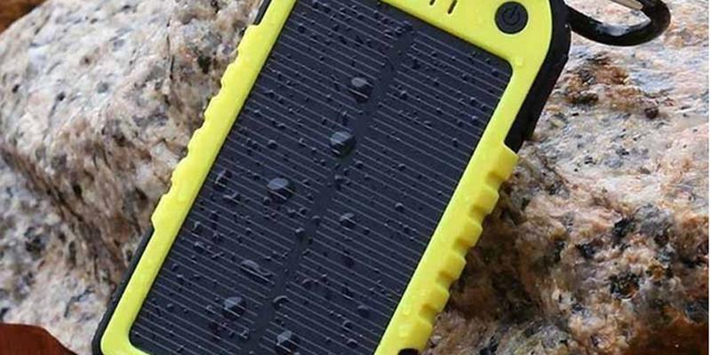 Внешний аккумулятор Power Bank на солнечных батареях Solar Charger 5000mah
