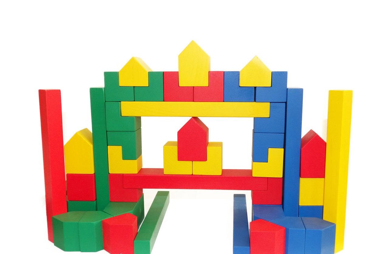 конструктор детский, деревянный конструктор
